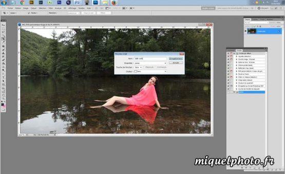 Outil Script action photoshop