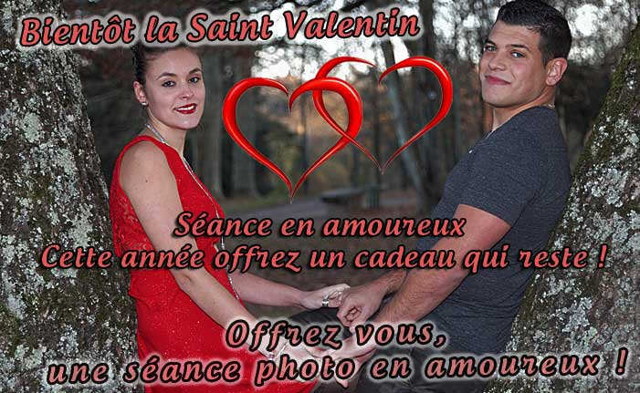 Cadeau saint valentin portrait photo