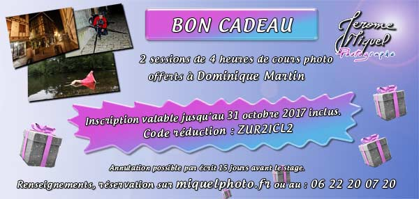 Cheque Cadeau formation photo