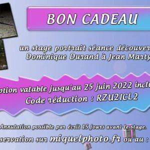 Bon Cadeau Portrait Séance Découverte