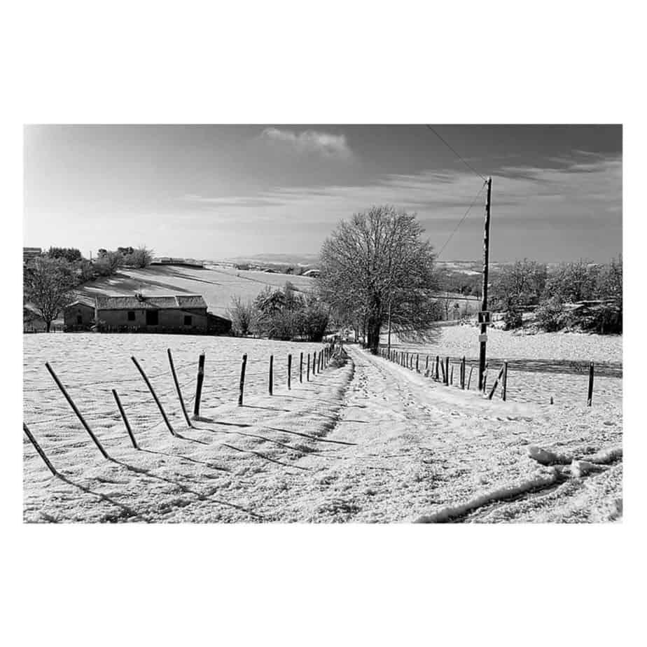 paysage sour la neige